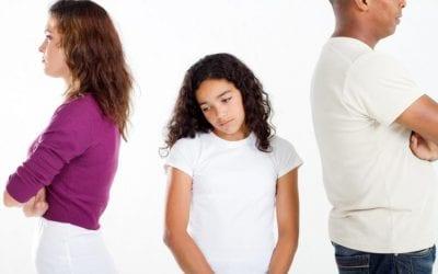 La separación de los padres