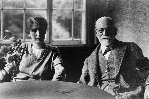 Freud y su hija Anna Freud
